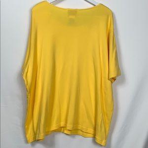 Quacker Factory Tops - Quacker Factory yellow top size 2X short sleeved